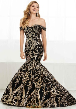 Queenly size 8 Tiffany Designs Black Mermaid evening gown/formal dress