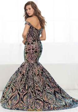 Style 16418 Tiffany Designs Multicolor Size 10 Sequin Mermaid Dress on Queenly
