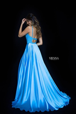 Style 8311 Vienna Blue Size 8 Backless Tall Height Ball gown on Queenly