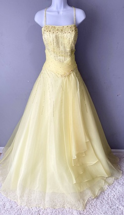 Queenly size 10 Precious Formals Yellow Ball gown evening gown/formal dress