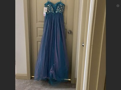 Blue Size 0 A-line Dress on Queenly