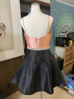 Ashley Lauren Multicolor Size 8 Flare Belt Cocktail Dress on Queenly