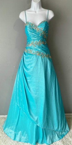 Queenly size 2 Precious Formals Blue Ball gown evening gown/formal dress