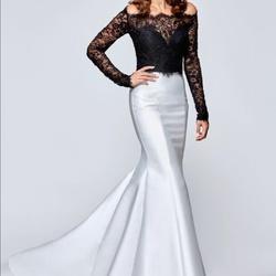 Queenly size 8 Tarik Ediz Black Mermaid evening gown/formal dress