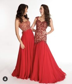 Sherri Hill Red Size 2 Pageant Mermaid Dress on Queenly