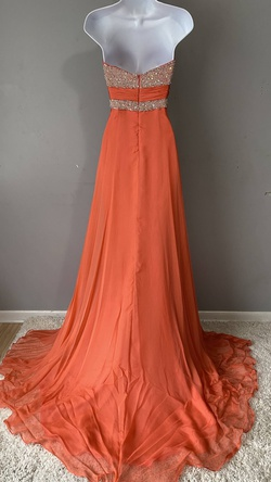 Prima Donna Orange Size 4 Tulle Train A-line Dress on Queenly