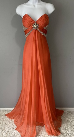 Queenly size 4 Prima Donna Orange A-line evening gown/formal dress