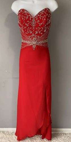 Queenly size 6 Crown Collection Red Straight evening gown/formal dress