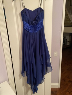 Windsor Blue Size 6 High Low Silk Cocktail Dress on Queenly