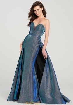 Queenly size 00 Ellie Wilde Blue Train evening gown/formal dress