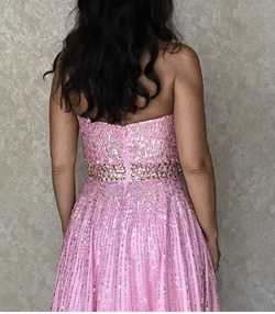 Sherri Hill Pink Size 8 Shiny Sweetheart A-line Dress on Queenly