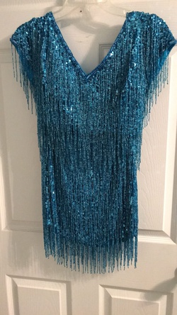 Queenly size 4 Sherri Hill Blue A-line evening gown/formal dress