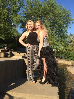 Sherri Hill Black Size 4 Jewelled Homecoming Side slit Dress on Queenly