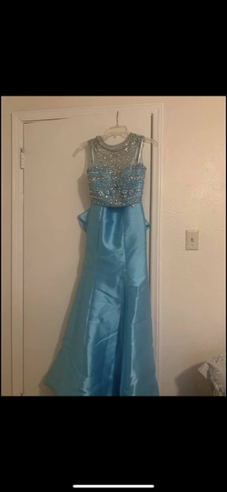 Queenly size 4 Sherri Hill Blue Mermaid evening gown/formal dress