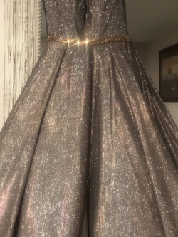 Jovani Gold Size 2 Pageant Ball gown on Queenly