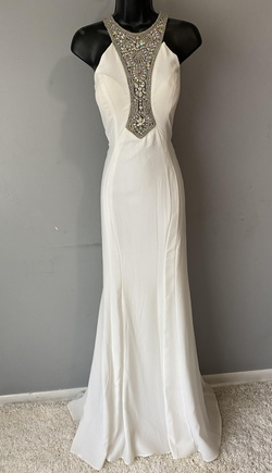 Queenly size 10 Precious Formals White Straight evening gown/formal dress