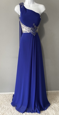 Queenly size 6 Precious Formals Blue A-line evening gown/formal dress