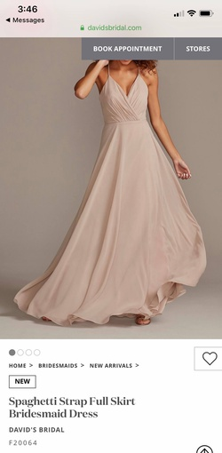 Style F20064 Davids Bridal Nude Size 2 Wedding A-line Dress on Queenly
