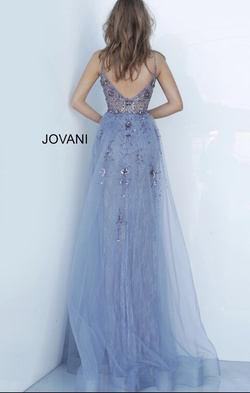 Jovani Light Purple Size 00 Backless Straight Dress on Queenly