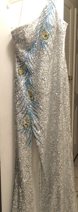 Queenly size 4  Multicolor Straight evening gown/formal dress
