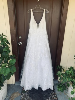 White Size 14 A-line Dress on Queenly