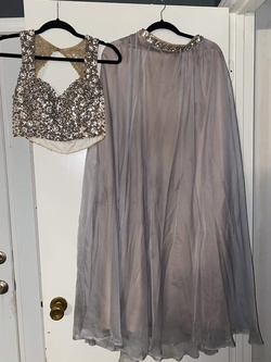 Silver Size 6 Straight Dress on Queenly