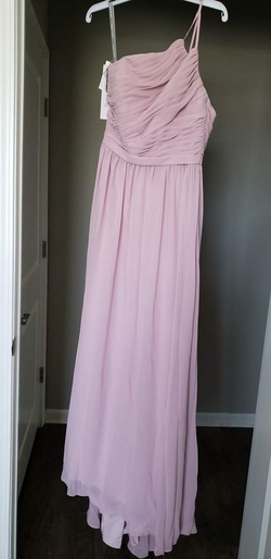 Alfred Angelo (style #7396L) - Love\'s First Blush' Pink Size 8 Mini Train A-line Dress on Queenly