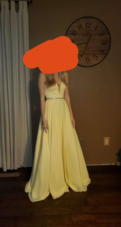 Yellow Size 4 Side slit Dress on Queenly