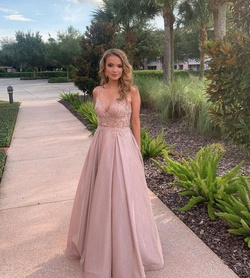 Jovani Pink Size 00 Medium Height Ball gown on Queenly