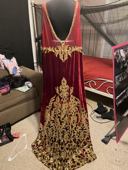 Red Size 26 Straight Dress on Queenly