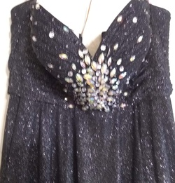 Blush Prom  Black Size 14 Plus Size Sequin Ball gown on Queenly