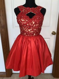 Queenly size 2  Red Cocktail evening gown/formal dress