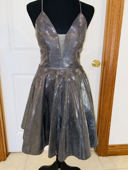 Queenly size 0  Silver Cocktail evening gown/formal dress