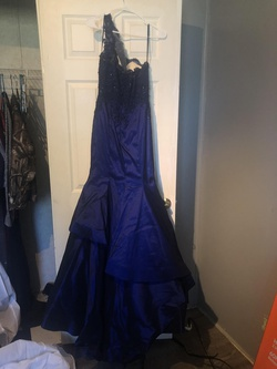 Queenly size 6 Morilee Blue Mermaid evening gown/formal dress