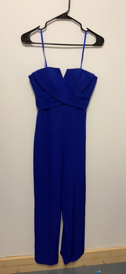 Queenly size 4  Blue Jumpsuit evening gown/formal dress