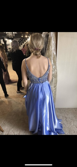 Ellie Wilde Blue Size 2 Ball gown on Queenly