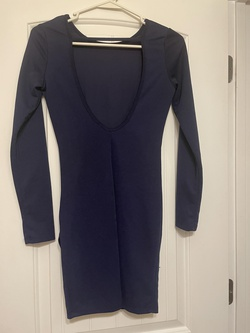 Windsor Blue Size 2 Sorority Formal Tall Height Wedding Guest Cocktail Dress on Queenly