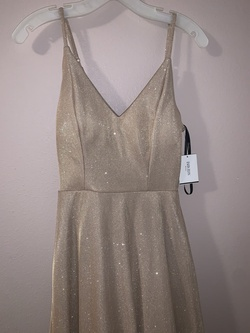 "Queenly size 6 ""b""""David's Bridal"""""" Gold Ball gown evening gown/formal dress"