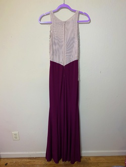 City triangles Purple Size 8 Nude Sheer Mermaid Dress on Queenly