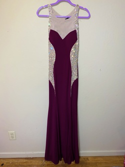 Queenly size 8 City triangles Purple Mermaid evening gown/formal dress