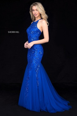 Blue Size 14 Mermaid Dress on Queenly