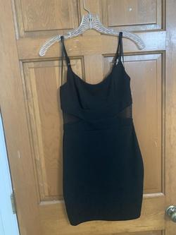 B. Smart Black Size 4 Mini Sorority Formal Sheer Cocktail Dress on Queenly