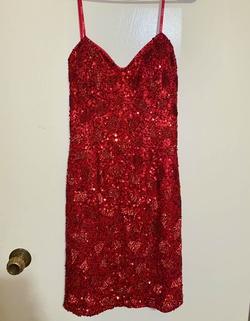 Scala Red Size 8 Sorority Formal Sequin Cocktail Dress on Queenly