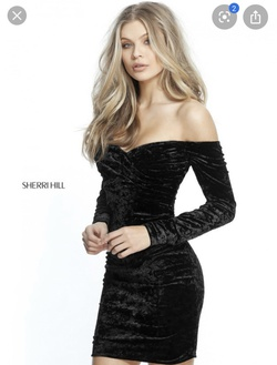 Sherri Hill Black Size 0 Cocktail Dress on Queenly