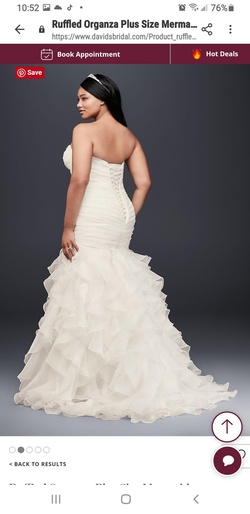 David's Bridal  White Size 22 Mermaid Dress on Queenly