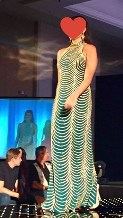 Queenly size 10  Green Straight evening gown/formal dress