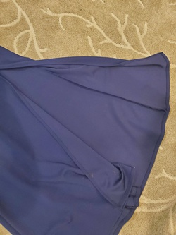 My Michelle Blue Size 8 Side slit Dress on Queenly