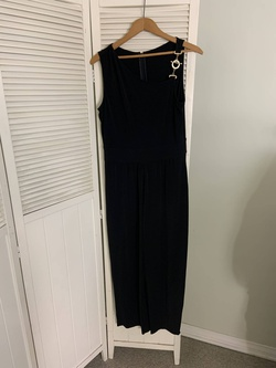 Lexico Fashion Black Size 10 Tall Height Jumpsuit Dress on Queenly