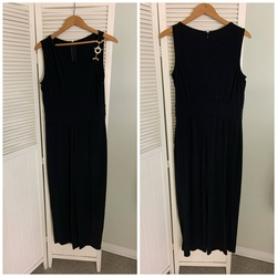 Queenly size 10 Lexico Fashion Black Jumpsuit evening gown/formal dress