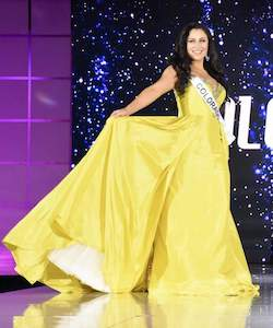 Sherri Hill Yellow Size 12 Train Jewelled Ball gown on Queenly